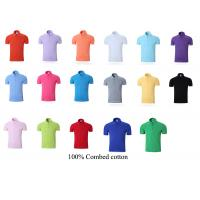 Buy cheap company club polo T-shirt collar 100% combed cotton men women team working uniform custom made from wholesalers