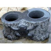 Buy cheap Lightweight Exterior Stone Garden Sculptures Big Granite Plant Pots Anti Corrosion from wholesalers