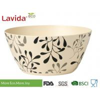 Buy cheap 2018 New Style customized logo and pattern accetable Organic Eco Bamboo Fibre Bowl Natrural bamboo fibre serving bowl from wholesalers