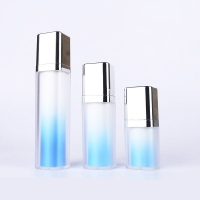 Buy cheap Sky Blue Lotion Inner Twist Up Pump Cosmetic Packaging Bottles 15ml 30ml 50ml product