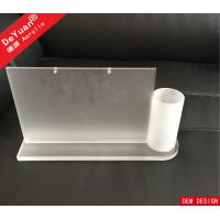 Buy cheap Acrylic Desktop Calendar Holder With Pen Box / Table Menu Display Holder from wholesalers