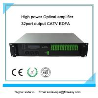 Buy cheap fiber optical amplifier 2U rack  32 port  output CATV EDFA  19dBm each port output power from wholesalers