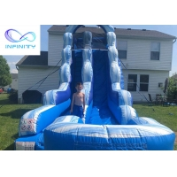 Buy cheap High Quality PVC Inflatable Slide Beach Water Jumping Water Slides product