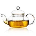 Buy cheap 600ml glass flower tea pot high temperature resistant glass tea kettle from wholesalers