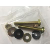 Buy cheap Slotted Head Toilet Tank Mounting Hardware Brass Plated Long Endurance from wholesalers