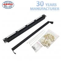 Buy cheap 110 IDC Network Patch Panel Cat6 UTP Unshielded 1u Cold Roll Steel Material from wholesalers