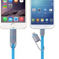 Buy cheap Micro Flat Usb Charging Cables 1 Meter 2in1 Iphone 6 / 6plus / Ipad / Samsung / Htc from wholesalers