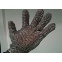 Buy cheap Stainless Steel Cut Resistant Gloves , Oil Resistance Steel Mesh Cutting Gloves from wholesalers
