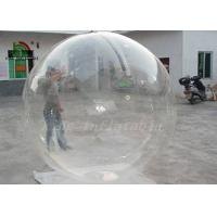 Buy cheap Clear Transparent PVC 2m Dia Inflatable Aqua Ball / Water Ball With YKK Zipper from wholesalers
