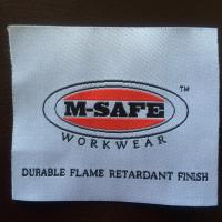 Buy cheap fire retardant woven label for frc clothing houston tx from wholesalers
