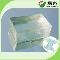 Buy cheap Light Transparent Block Synthetic polymer resin Baby Diaper Industrial Hot Melt Glue Synthetic Polymer Resin from wholesalers