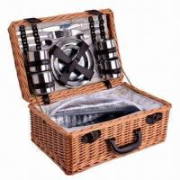Buy cheap Picnic Basket for 2 Persons, Made of Steamed Willow Material from wholesalers