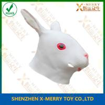 Buy cheap X-MERRY White Rabbit Bunny Mask Handmade Rubber Latex Venetian Masquerade from wholesalers