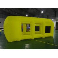 Buy cheap Eco Friendly Yellow Commercial Inflatable Event Tent / Inflatable Spray Booth from wholesalers