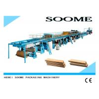 Buy cheap High Efficient Corrugated Cardboard Production Line Rotary Cutting Type from wholesalers