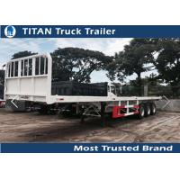 Buy cheap Tri - axle 40ft high bed platform flatbed utility trailers with 45 tons load capacity from wholesalers