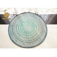 Custom Comfortable Round Oriental Rugs Non Slip Short Plush Material