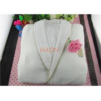 Buy cheap Pure Cotton White Hospitality Bathrobes Velvet & Wffle Double Layer Hotel Spa Robes from wholesalers