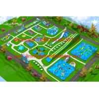 Buy cheap 2017 Hot Sale Business Plan Outdoor Giant Commercial Frame Pool Type Land Inflatable Water Park For Kids And Adults from wholesalers