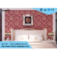 Buy cheap Waterproof Vinyl Wall Covering / Red Home Decorating Wallpaper For Promotion, 0.53*10m from wholesalers