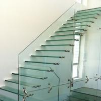 Buy cheap Top Grade Steel Floating Stair with Glass Step Design from wholesalers
