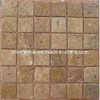Buy cheap Noce Travertine Marble Mosaic Tile/ Wall Tile/ Floor Tile from wholesalers