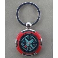 China red plastic metal compass keychain for promotional outdoor gear on sale