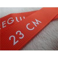 Buy cheap Screen Printing Tagless Labels , Custom White Logo On Fabric For Clothes from wholesalers