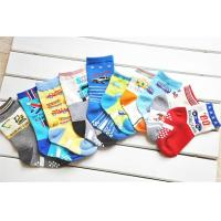 Buy cheap Colorful cartoon patterned design knitted AZO-free terry cotton boys socks from wholesalers