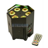 Buy cheap UV 6in1 Battery Powered Dj Lights , Dmx Wash Light 15 Degree Beam Angle from wholesalers