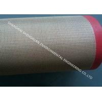 Buy cheap Glass Fiber Teflon Coated Conveyor Belt Double Weft Elongation Coefficient Less 5‰ from wholesalers