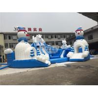 Buy cheap Outdoor Amazing Bear Inflatable Water Park With Slide Blue And White from wholesalers