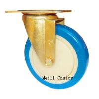 Buy cheap Beautiful  PVC Color Zinc Plated Castor Wheel for Medium Support from wholesalers