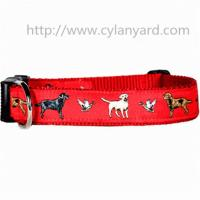 Buy cheap Jacquard ribbon polyester dog collars with ABS side release buckle, premium quality, from wholesalers