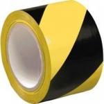 Buy cheap Black&YELLOW PVC warning TAPE 50mm x 33M + FREE HAZARD WARNING BLACK from wholesalers