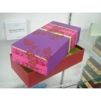 Buy cheap Cardboard Packaging Boxes With Lid , Paper Gift Towel Box 10 * 5 * 4 Inch product