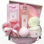Buy cheap Pink Bubble Bath Gift Set, Bath Fizzer, Bath Salt, Bubble Bath, Rose Petal, EVA Sponge for girl from wholesalers