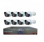 Buy cheap HD CMOS 1000TVL H.264 8ch AHD DVR CCTV Camera Kit 8 Waterproof Indoor Bullet camera from wholesalers