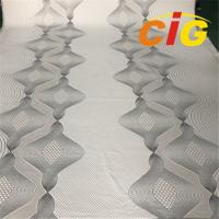 Buy cheap 2019 Soft Waterproof Yarn Dyed Polyester Knitted Double Jacquard Mattress Ticking Fabric from wholesalers
