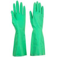 Buy cheap Chemical Resistant Reusable Nitrile Industrial Gloves Embossing Green Customized from wholesalers