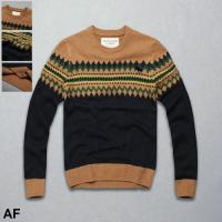 Buy cheap Abercrombie&F 2015 new styles man wave/leaf pattern sweater mens woolen sweaters cashmere sweater knitted sweater from wholesalers