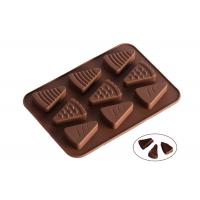 Buy cheap 9 Cavaties Silicone Chocolate Molds , Ice Cream Shape Chocolate Candy Molds from wholesalers