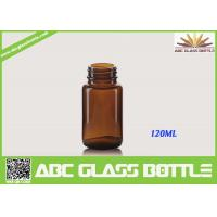 Buy cheap Free Sample 120ML Custom Small Tablet Amber Glass Bottle product