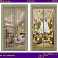 Buy cheap 2015 best selling Aluminium two panel Laminated glass tilt and turn door from wholesalers