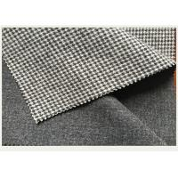 Buy cheap Causal Suit / Pants Houndstooth Tartan Wool Fabric Black And White 820g from wholesalers