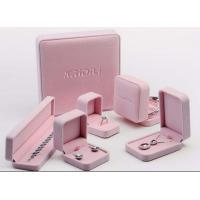 Buy cheap Lovely Velvet Lined Jewelry Box Pink Suede Eco Friendly For Jewelry Promotion from wholesalers