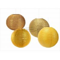 Buy cheap Glitter Powder Shiny Round Paper Lanterns , 14 Inch Paper Lanterns For Outdoors from wholesalers