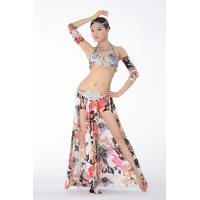 Buy cheap Professional Belly Dance Costumes Egyptian Bra Cup with print fabric and colorful rhinestones from wholesalers