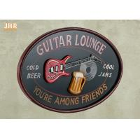 Buy cheap Personalized Antique Wall Art Sign Pub Sign Wall Decor Oval Shape Guitar Lounge from wholesalers