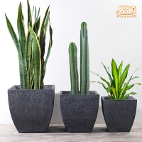Buy cheap Resin Outdoor Plant Pots Handmade Pot Planters Fiber Clay Flower Pots Gray Color Flower Pots Weathered Garden Plant Pot from wholesalers